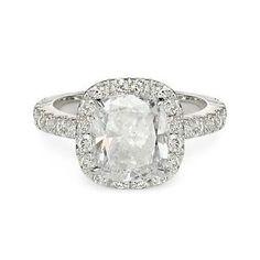 3 42 Ct G VS2 Cushion Cut Diamond Engagement Ring 14k | eBay