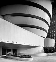 Guggenheim museum, designed by Frank Lloyd Wright, NY, ca.1959