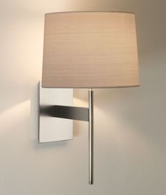The San Marino Solo wall light from Astro is an elegant wall fitting finished in matt nickel. There are a range of shades available to suit any interior (sold separately) Lounge Lighting, Lighting Uk, Lighting Design, Wall Light Shades, Contemporary Wall Sconces, I Love Lamp, Wall Lights, Ceiling Lights, Fabric Shades
