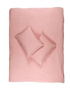 Coral Melange Linen Duvet Covers / Pillows and Fitted Sheets - Yarn Dyed