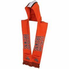 Cleveland Browns Knit Hooded Scarf - Orange