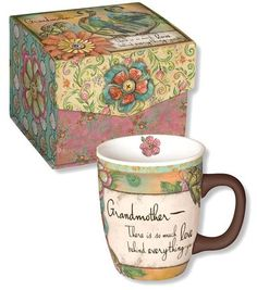 Grandma Gifts are our specialty at The BananaNana Shoppe where you will find unique gifts and other fun stuff! Absolutely beautiful mug to tell grandmother how much you love her! This colorful mug comes individually packaged in its own beautiful box. A wonderful and thoughtful gift!