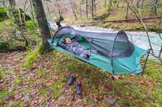 this would be cool on our deck.  Wonder if it comes in sizes for 2.   tree hanging hammock tents lawson