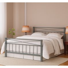 @Overstock - Add a stylish touch to your bedroom with this queen-sized bed from Amar. A contemporary design with a silver finish highlights this bed.   http://www.overstock.com/Home-Garden/Amar-Silver-Finish-Queen-Bed/7356942/product.html?CID=214117 $198.89