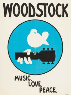 3 Days of Peace and Music Woodstock Poster, Woodstock Music, Music Love, Rock Music, Festival Woodstock, Jimi Hendrix Poster, Hippie Art, Hippie Vibes, Band Posters
