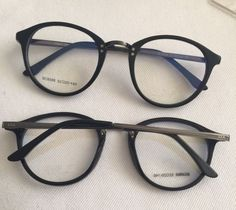 TR 90 Round Eye Glasses Vintage Prescription Glasses Frame women and men Cool Glasses, New Glasses, Girls With Glasses, Glasses Frames, Jewelry Accessories, Fashion Accessories, Fashion Eye Glasses, Four Eyes, Reading Glasses