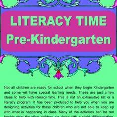 English ideas pre-Kindergarten Free resource