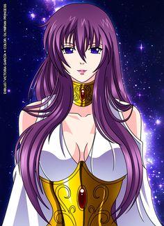 Antigua Athena - The Lost Canvas by Olympian-Princess on DeviantArt Anime Sexy, Anime Love, Sendai, Knights Of The Zodiac, One Piece Anime, Anime Demon, Beautiful Anime Girl, Anime Art Girl, Anime Comics