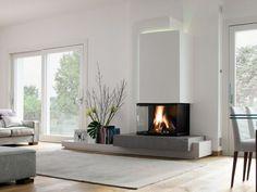 Une cheminée vitrée à 180 ° - Des cheminées de toutes les fomes