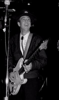 Stevie Ray Vaughan at the 30th annual Grammy awards at Radio City Music Hall in NYC - Feb 2,1988.
