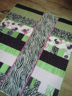 Funky baby quilt backing
