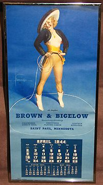 "Large Framed Brown & Bigelow Calendar ""Hi, Neighbor"