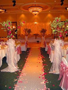 Ceremony Reception In Same Room Also Hideous Decor
