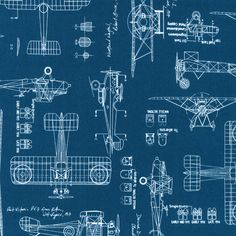 last cut 29 inches, Robert Kaufman - Vintage Blueprints - Planes - Indigo - Fabric by the Yard Tim Holtz, Vintage Airplanes, Vintage Cars, Funny Vintage, Small Knitting Projects, Air Festival, Robert Kaufman, Cotton Quilting Fabric, Vintage Designs