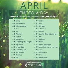 Join our April Photo-A-Day Challenge & tag #yorhealthApril
