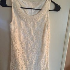 """Super cute Lace and Faux pearl dress...size small Super cute lace and faux pearl dress... Size small...zip rear.... Length is 28""""...cotton / nylon blend... Nice!!! Dresses"""