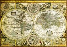 World Map - Historical Poster sur AllPosters.fr
