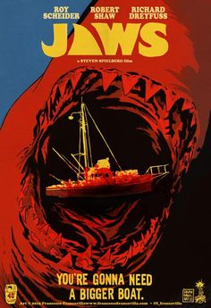 Jaws - You're Going To Need A Bigger Boat by Francesco Francavilla