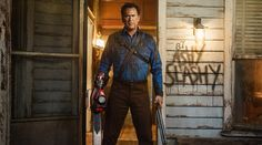 The idea of Netflix bringing back 'Ash Vs. Evil Dead' for a fourth season is over according to Bruce Campbell. Bruce Campbell, Ash Williams, Lucy Lawless, Evil Dead Movies, Ash Evil Dead, Critique Cinema, Lee Majors, Starz Series, Tv Series
