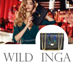 The black Ava bag with snakeskin details is chic, practical and extremely feminine @w