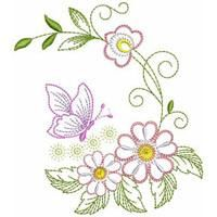 Hand Embroidery Patterns Flowers, Border Embroidery Designs, String Art Patterns, Free Machine Embroidery Designs, Embroidery Applique, Embroidery Stitches, Bordado Floral, Motif Floral, Sewing