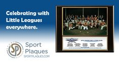 Batter up! September is National Little League Month! Did you know that Little League Baseball is the world's largest organized youth sports program? We love all the great Little League photos that come our way and are happy we can make them into a treasured memory for these youth, and their coaches and sponsors. #LittleLeague #YouthBaseball #LittleLeagueWorldSeries #SportPlaques Team Photos, Sports Photos, Award Plaques, Parent Night, Little League Baseball, Sports Awards, Happy We, 12 Year Old, Coaches