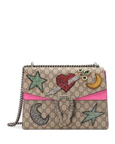 Gucci Dionysus Embroidered Shoulder Bag, Multi/Pink