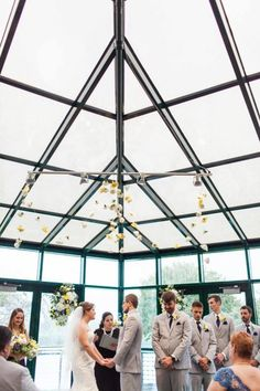 No rain will ever ruin a wedding parade at Montage! We love our all-glass room.