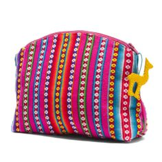 This cosmetic pouch is handcrafted in a workshop in Peru that provides training and employment to adolescent mothers. #FairTuesday