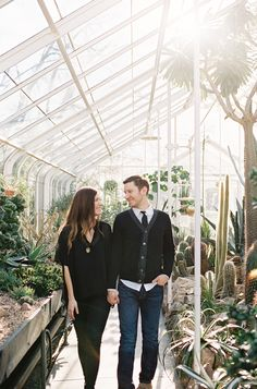 Engagement session at the Seattle Conservatory.   Photography: O'Malley Photographers - omalleyphotographers.com  Read More: http://www.stylemepretty.com/2014/06/24/engagement-session-at-the-seattle-conservatory/