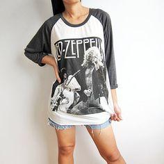Led Zeppelin Shirt Baseball Tee Shirt Raglan Long Sleeve T Shirts Size M on Etsy, $16.50