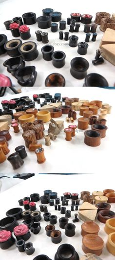 Other Wholesale Earrings 51015: Us Seller- 30 Pairs Organic Natural Wood Ear Gauges Ear Plugs Body Piercing S -> BUY IT NOW ONLY: $45.0 on eBay!