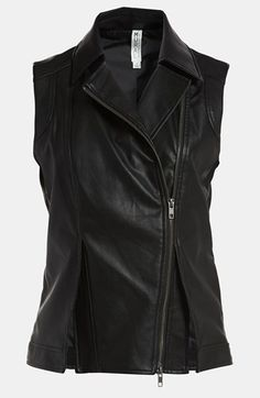 Mural Faux Leather Vest available at #Nordstrom $52.26