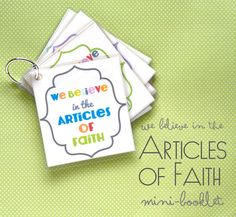 Print it- We Believe in the Articles of Faith Mini-Booklet