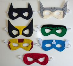Lots of ideas for superhero costume. From masks and accessories to the actual outfit.