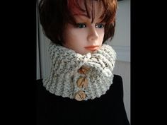 chunky style knitted cowl.