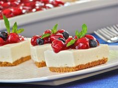 Merry Cherry Cheesecake: Your dinner guests will be very merry when they taste this light-and-lemony cherry cheesecake. A crowd favorite!
