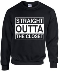 Straight Outta The Closet Funny LGBTQ Humor Gay by ALLGayTees