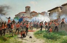 At the Battle of Vitoria (21 June 1813) a British, Portuguese and Spanish army under General the Marquess of Wellington broke the French army under Joseph Bonaparte and Marshal Jean-Baptiste Jourdan near Vitoria in Spain, eventually leading to victory in the Peninsular War.