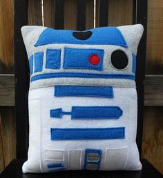 r2d2 star wars pillow cushion gift by telahmarie on Etsy, $30.00