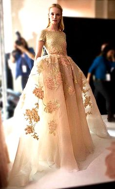 Elie Saab Haute Couture Spring/Summer 2014, I would wear dresses like this every day just because if I could :)