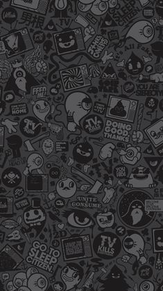 48 ideas for wall paper dark iphone backgrounds ipad Cartoon Wallpaper, Wallpaper Doodle, Graffiti Wallpaper, Dark Wallpaper, Trendy Wallpaper, Galaxy Wallpaper, Screen Wallpaper, Wallpaper Keren, Wallpaper Pictures