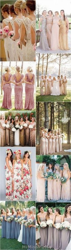 Looking for the perfect bridesmaid dresses? Bridesmaid dresses that are stiff, shiny, and dull are a thing of the past. Dress your girls up in unique bridesmaid dresses that have a floral print, a vintage ... #bridesmaids #wedding
