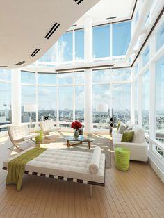 #MiesvanderRohe, #Barcelonadaybed #Bauhaus Wohnzimmer Design, Wohnzimmer  Modern, Modernes Möbeldesign,