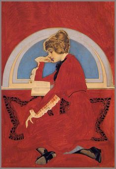 Coles Phillips 'Woman reading book in window nook' 1913 | Flickr