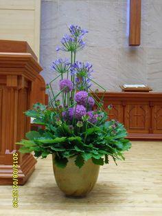 Altar Flowers, Wire Flowers, Church Flowers, Church Altar Decorations, Flower Decorations, Large Flower Arrangements, Funeral Arrangements, Cascade Bouquet, Agapanthus