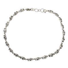 """NOVICA .925 Sterling Silver Animal Lover Handmade Link Anklet, 9.75"""", 'Elephant Parade'"""