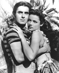 Gene Tierney and Tyrone Power in Son of Fury [1942]