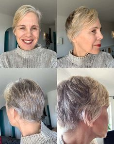 Transitioning into gray hair - 40plusstyle.com Going Gray, Gray Hair, Your Hair, Cool Hairstyles, Grey, Hair Styles, Women, Gray, Hair Plait Styles