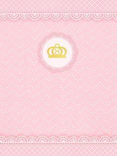 Kit digital gratuito para imprimir Princess - Coroa de Princesa Rosa!   Montando minha festa Baby Shawer, Ideas Para Fiestas, Memory Books, Wallpaper Backgrounds, Canvas Frame, Free Printables, Chibi, Projects To Try, Digital
